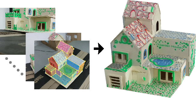 Figure 1 for Recovering 3D Planar Arrangements from Videos