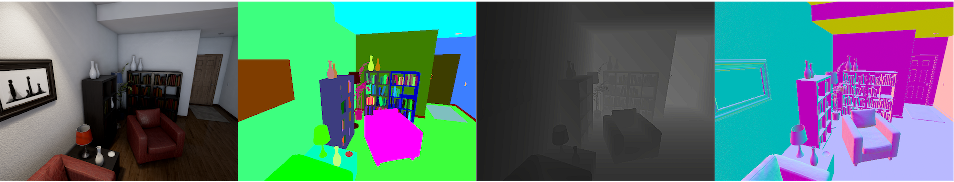Figure 1 for UnrealCV: Connecting Computer Vision to Unreal Engine