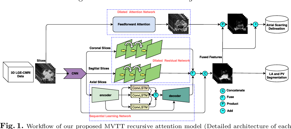 Figure 1 for Multiview Two-Task Recursive Attention Model for Left Atrium and Atrial Scars Segmentation