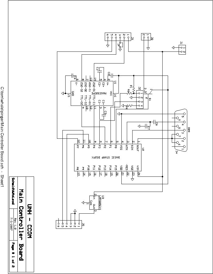 Figure 41 Control Panel Circuit Schematic Diagram