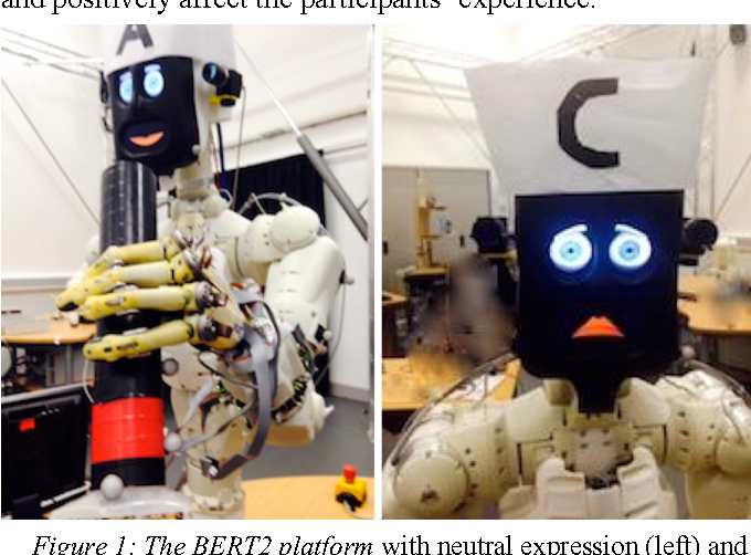 Figure 1 for Believing in BERT: Using expressive communication to enhance trust and counteract operational error in physical Human-Robot Interaction