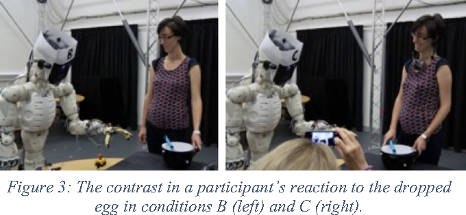 Figure 3 for Believing in BERT: Using expressive communication to enhance trust and counteract operational error in physical Human-Robot Interaction
