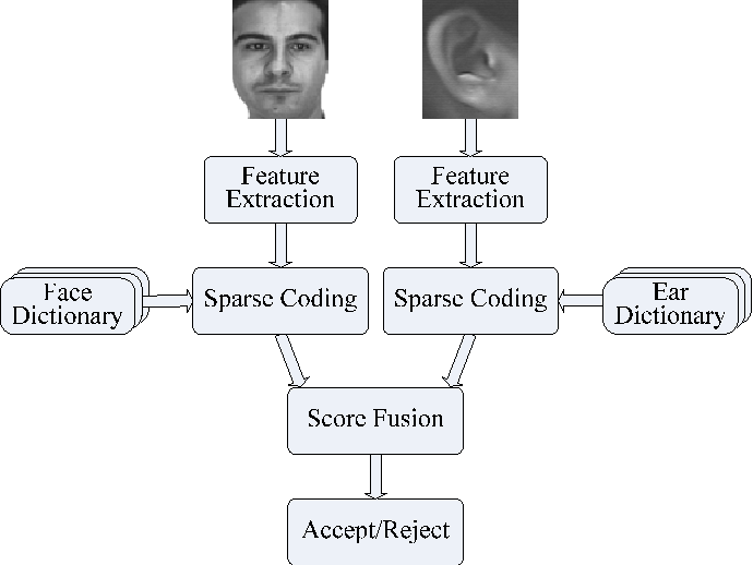 Figure 3 for Study on Sparse Representation based Classification for Biometric Verification