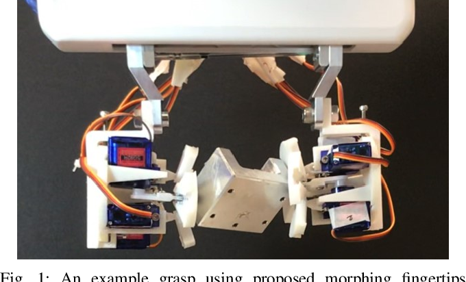 Figure 1 for Origami-based Shape Morphing Fingertip to Enhance Grasping Stability and Dexterity
