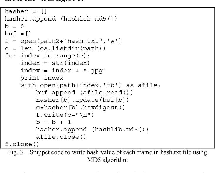 Simple duplicate frame detection of MJPEG codec for video forensic