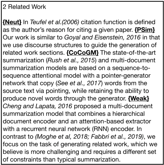 Figure 3 for Generating Related Work