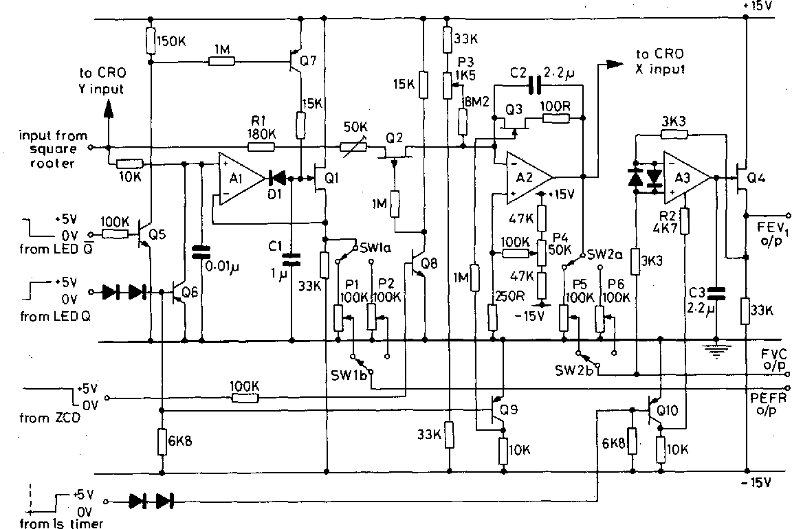 Figure 2 From A Pressure Sensitive Transistor Spirometer For The Circuit Diagram Op Amp Peak Detector Pictures Integrator And Sample Hold Circuits Ai