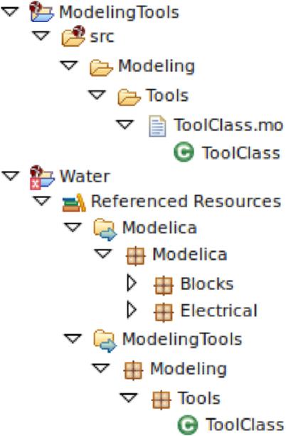 Figure 6: Modelica Project Explorer