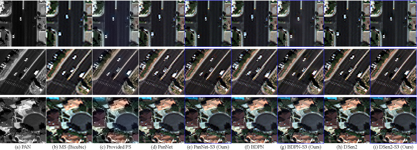 Figure 2 for S3: A Spectral-Spatial Structure Loss for Pan-Sharpening Networks