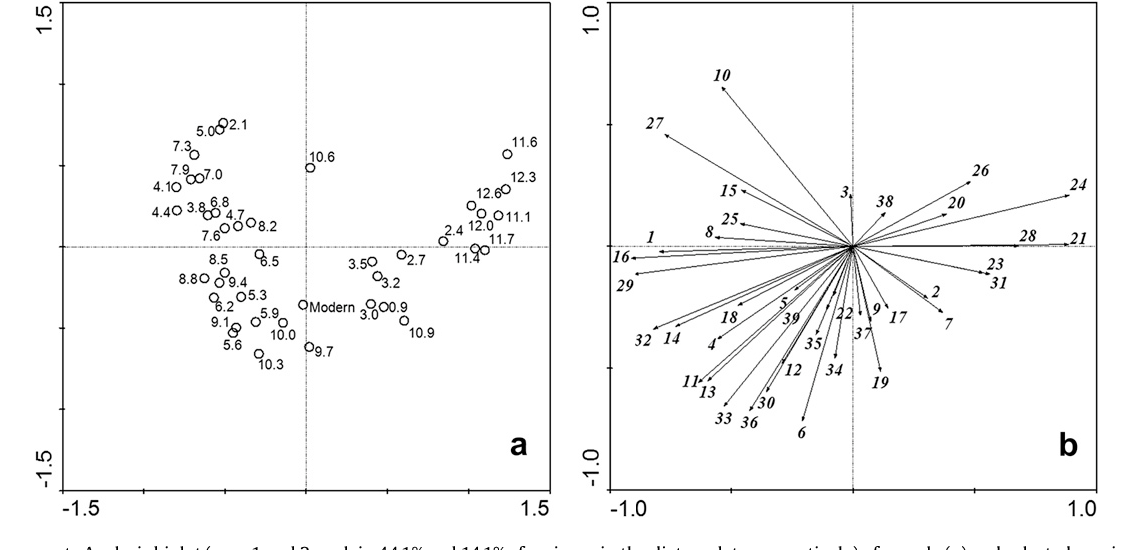 Figure 3 from A ~ 13,000-Year Paleolimnological Record from