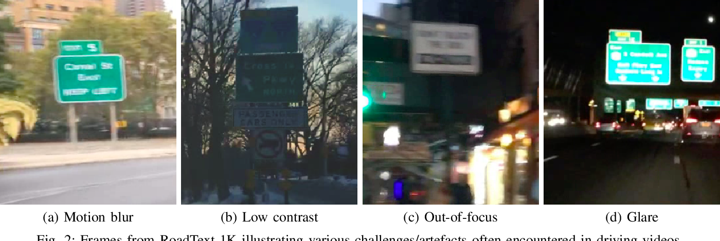 Figure 2 for RoadText-1K: Text Detection & Recognition Dataset for Driving Videos