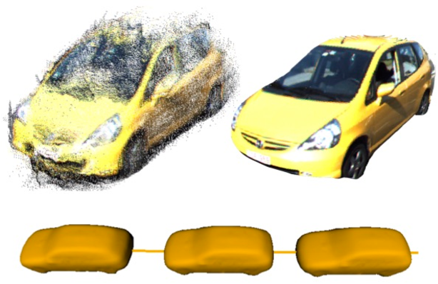 Figure 1 for SAMP: Shape and Motion Priors for 4D Vehicle Reconstruction