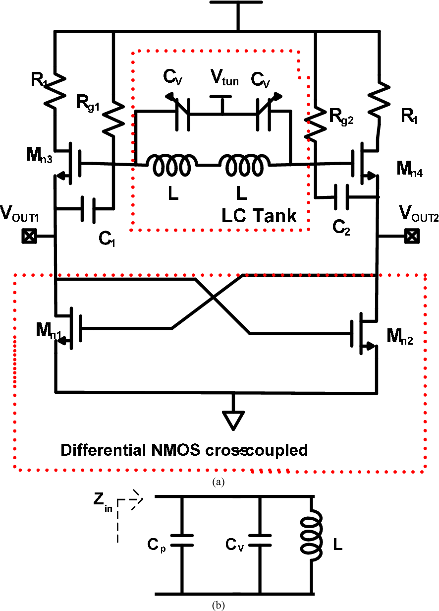 Figure 3 From Design Of 106 Ghz Low Phase Noise Lc Voltage Voltagecontrolled Oscillator Vco Using The Timer 555 Is Shown In A Shematic Proposed