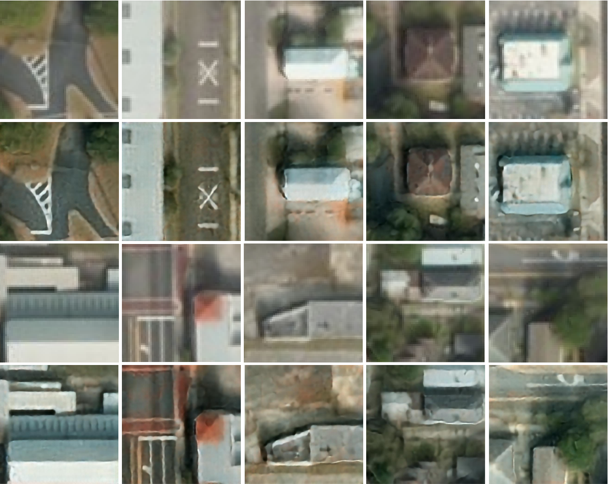 Figure 3 for Unsupervised Super-Resolution of Satellite Imagery for High Fidelity Material Label Transfer