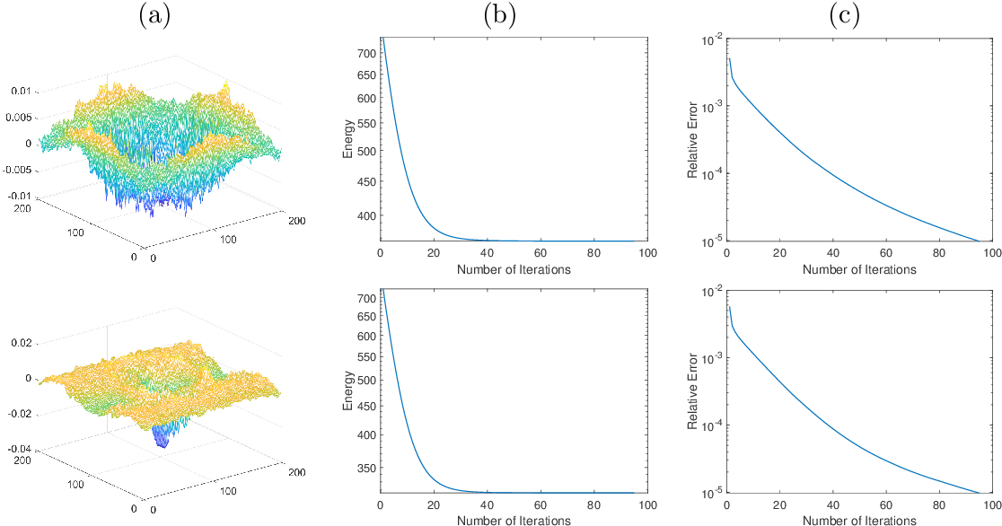 Figure 3 for An Operator-Splitting Method for the Gaussian Curvature Regularization Model with Applications in Surface Smoothing and Imaging