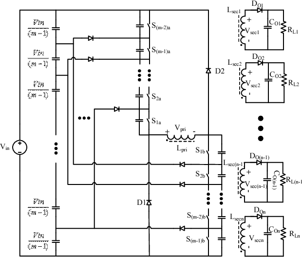 Fig. 3. 'n'-Level Double-Ended Flyback Converter.