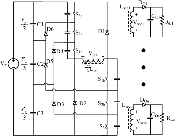 Fig. 4. Four-Level Double-Ended Flyback Converter