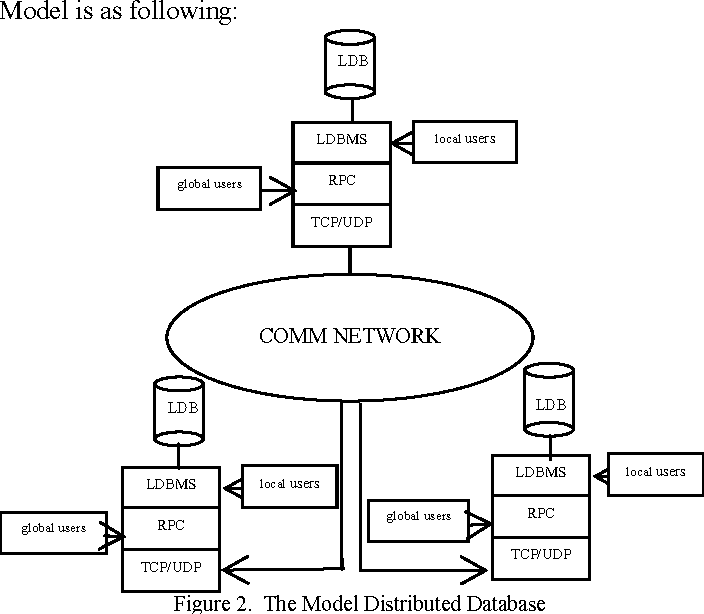 Figure 2. The Model Distributed Database