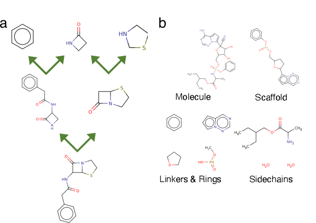 Figure 1 for Scaffold Embeddings: Learning the Structure Spanned by Chemical Fragments, Scaffolds and Compounds