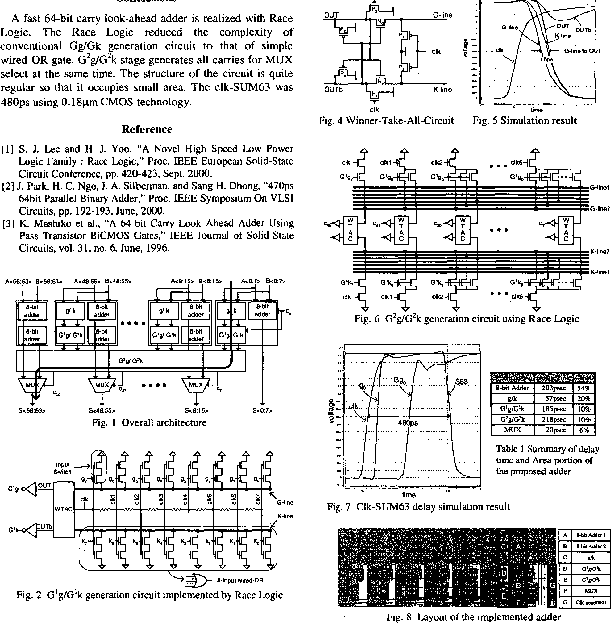 480 Ps 64 Bit Race Logic Adder Semantic Scholar 8 Circuit Diagram Figure 1