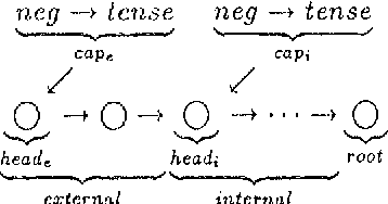Figure 5: complex verb structure