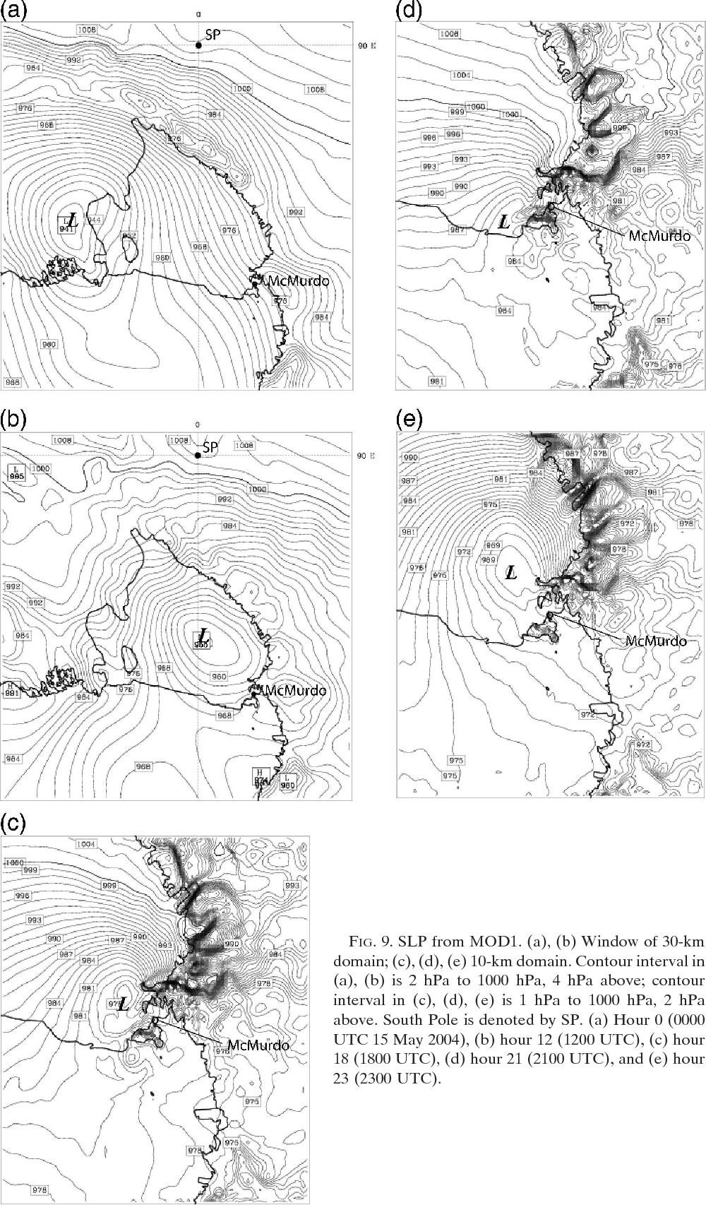 Figure 9 from Numerical Prediction of an Antarctic Severe