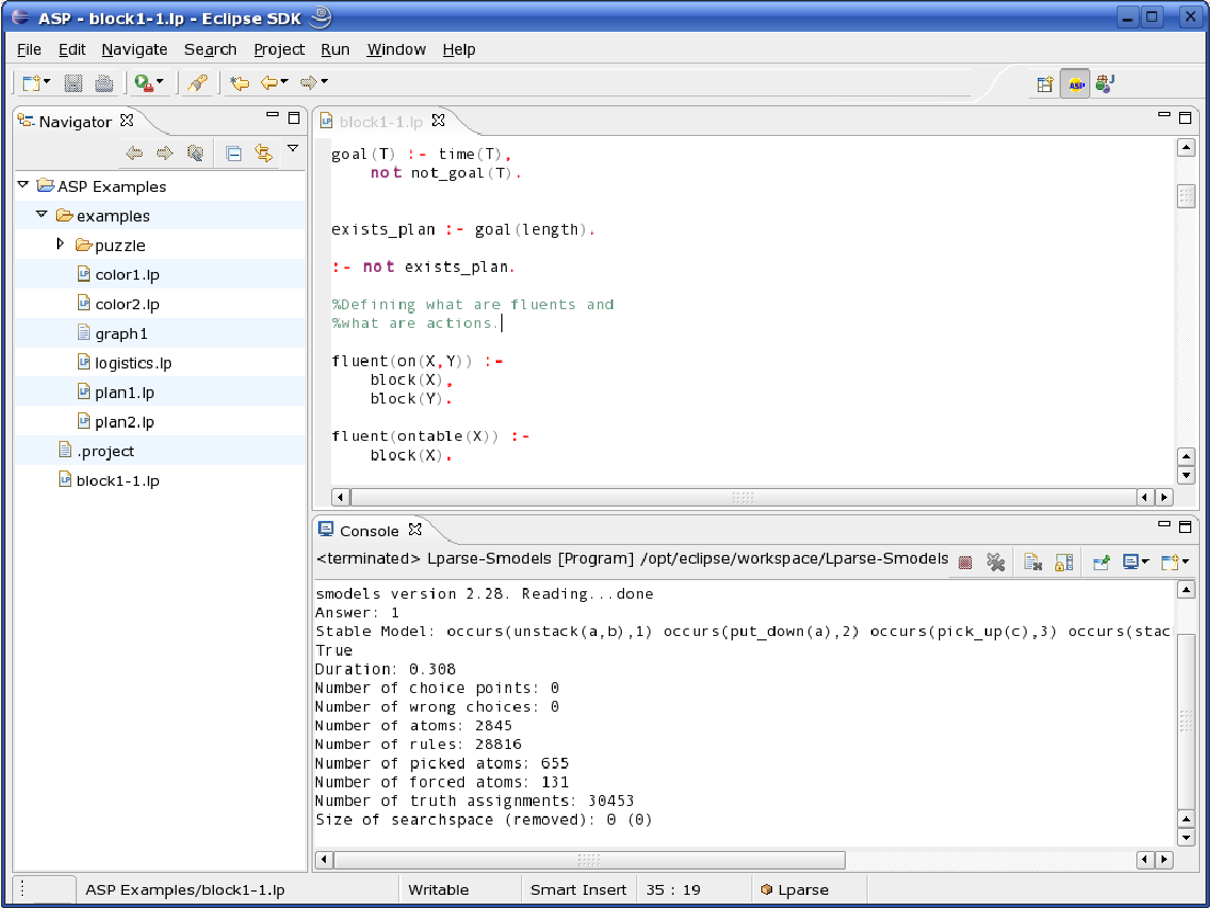 Figure 5 1 from AnsProlog* Programming Environment (APE