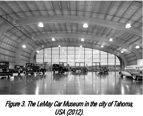Figure 3. The LeMay Car Museum in the city of Tahoma, USA (2012). Source: http://www.tripadvisor.com/Attraction_Reviewg58775-d3203900-ReviewsLeMay_America_s_Car_MuseumTacoma_Washington.html, or http://mediacdn.tripadvisor.com: /media/photo-t/02/88/27/bb/lemaymuseum-at-marymount.jpg
