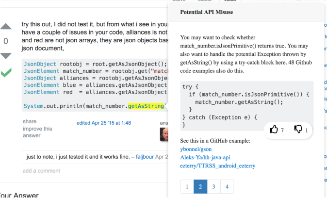Augmenting stack overflow with API usage patterns mined from
