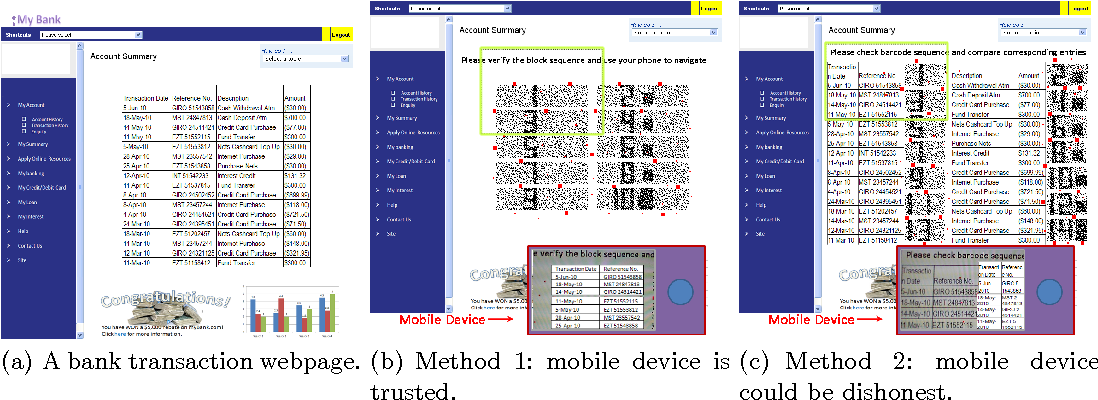 Figure 1 for Securing Interactive Sessions Using Mobile Device through Visual Channel and Visual Inspection