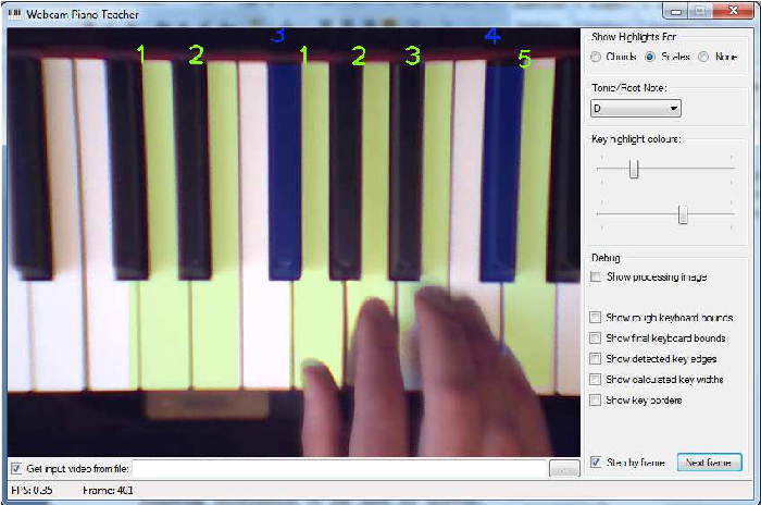 Figure 5 from Key detection for a virtual piano teacher - Semantic