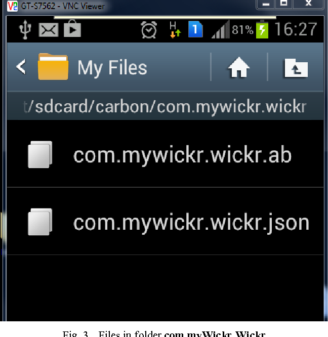 Figure 3 from Forensic analysis of Wickr application on