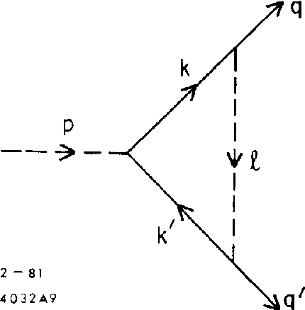 Fig. 9. Vertex correction in $&$ theory.