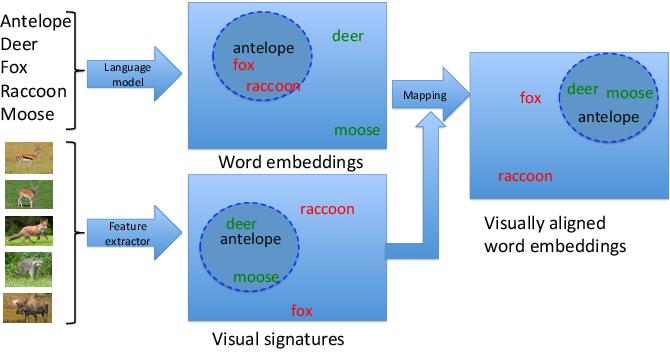 Figure 1 for Visually Aligned Word Embeddings for Improving Zero-shot Learning