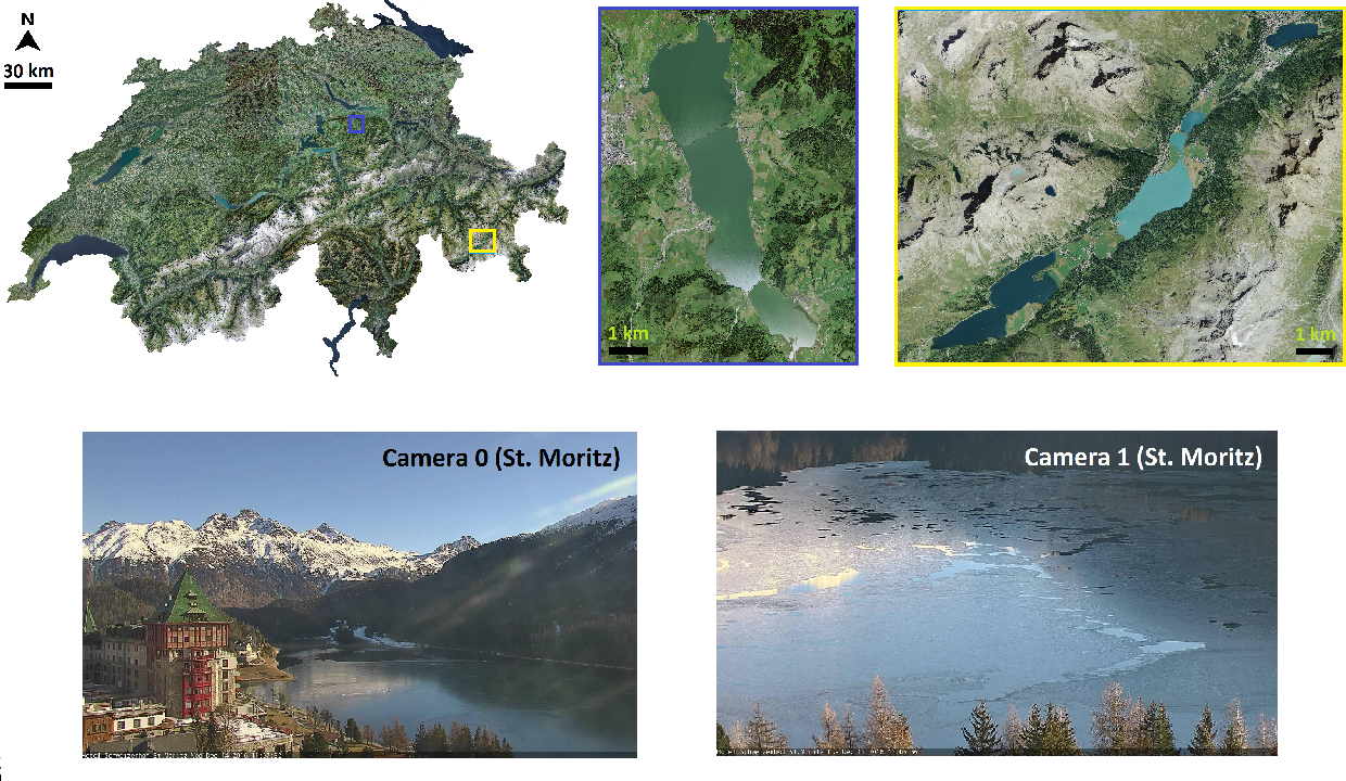 Figure 2 for Ice Monitoring in Swiss Lakes from Optical Satellites and Webcams using Machine Learning
