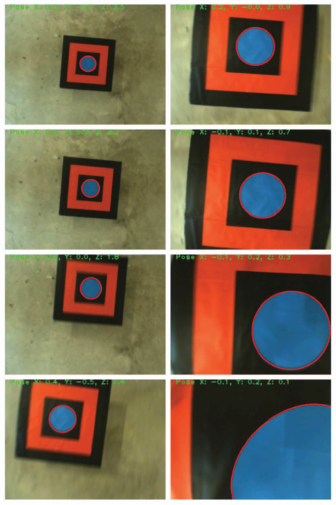Fig. 9. Images sequence seen by on-board camera