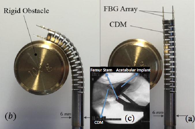 Figure 1 for FBG-Based Control of a Continuum Manipulator Interacting With Obstacles