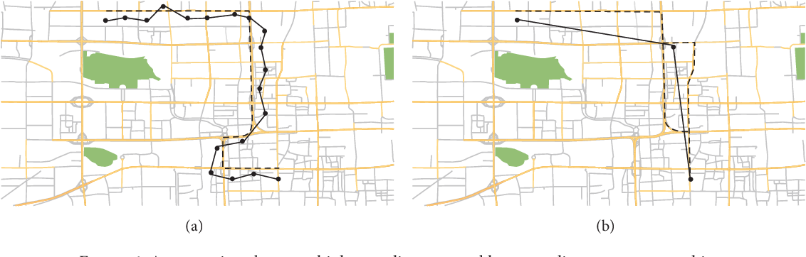 Figure 1 for Map Matching based on Conditional Random Fields and Route Preference Mining for Uncertain Trajectories