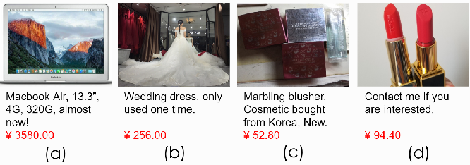 Figure 1 for Price Suggestion for Online Second-hand Items with Texts and Images