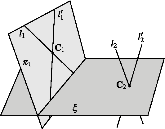 Figure 4 for Autocalibration with the Minimum Number of Cameras with Known Pixel Shape