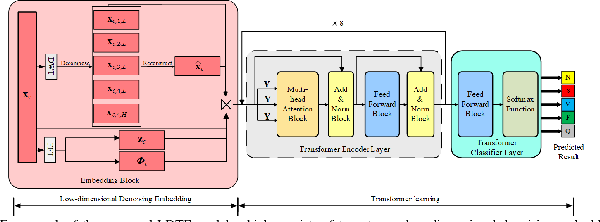 Figure 1 for Low-dimensional Denoising Embedding Transformer for ECG Classification