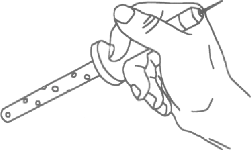 Figure 2. The wand as held by SUbjects to indicate local surface orientation.