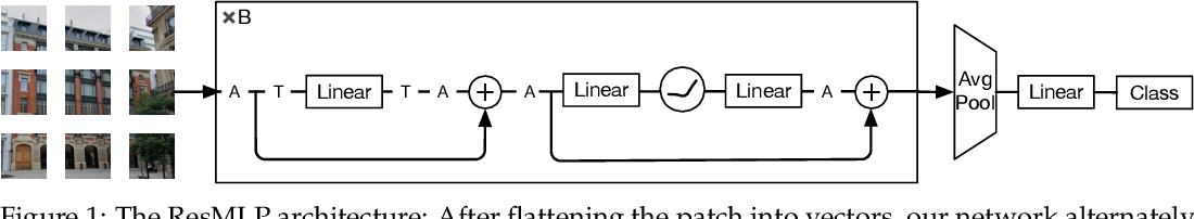 Figure 1 for ResMLP: Feedforward networks for image classification with data-efficient training