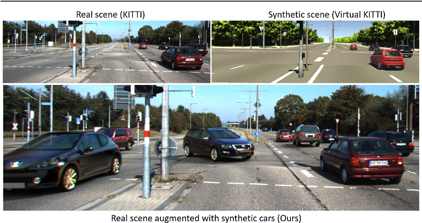 Figure 1 for Augmented Reality Meets Computer Vision : Efficient Data Generation for Urban Driving Scenes