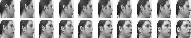 Fig. 3. Sample face images from the UMIST database. The number of different poses poses for each subject is varying.