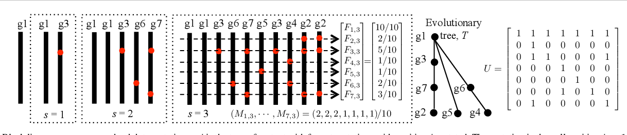 Figure 1 for Exact inference under the perfect phylogeny model