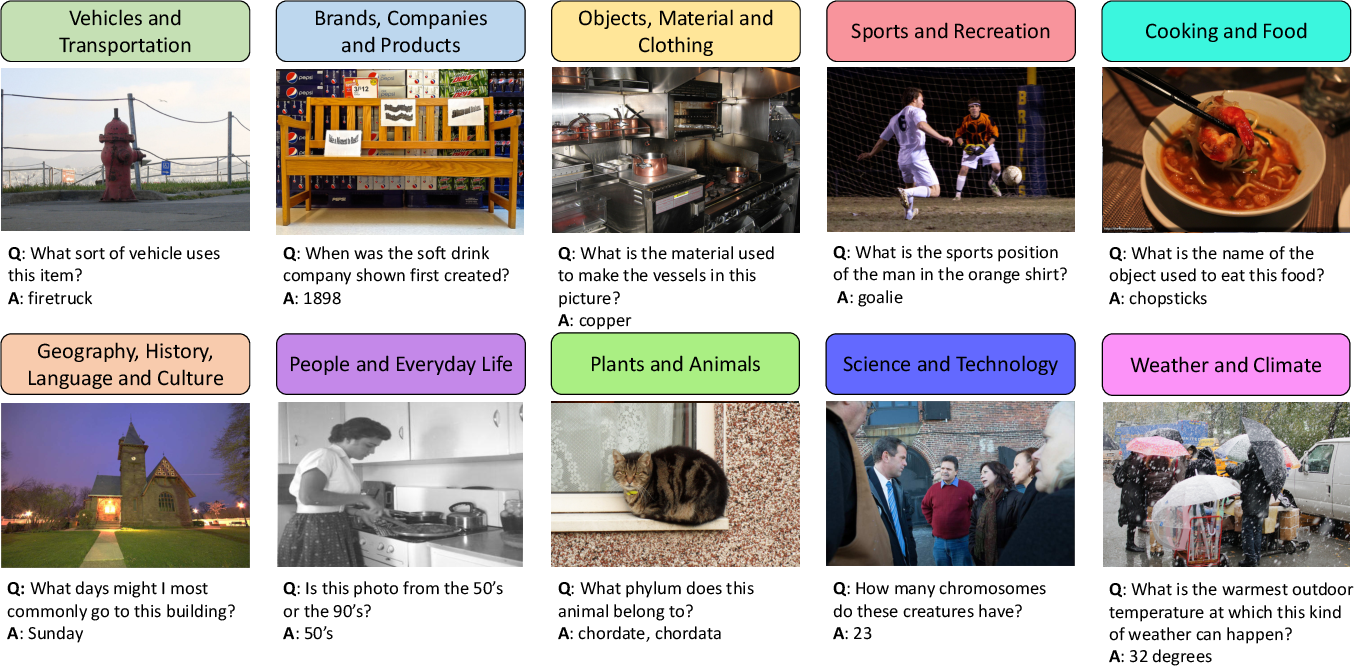 Figure 3 for OK-VQA: A Visual Question Answering Benchmark Requiring External Knowledge