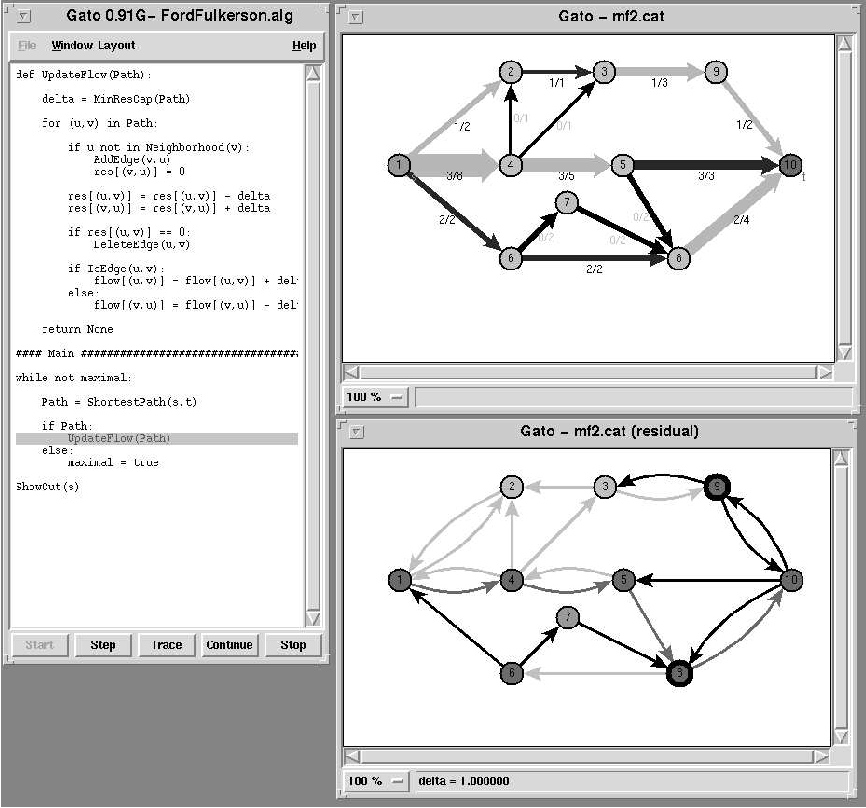 Developing Gato and CATBox with Python: Teaching Graph Algorithms