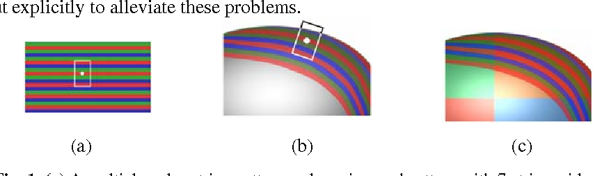 Figure 1 for Color-Stripe Structured Light Robust to Surface Color and Discontinuity