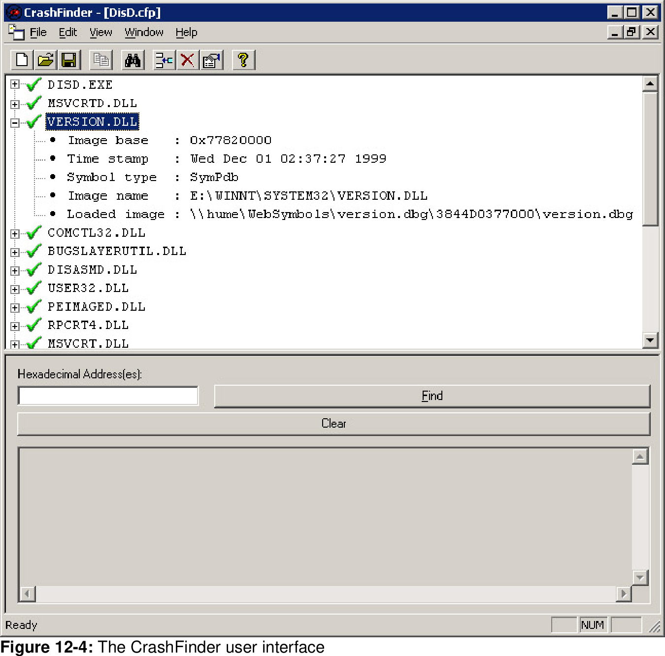 Figure 12-4 from Debugging Applications for Microsoft  NET and